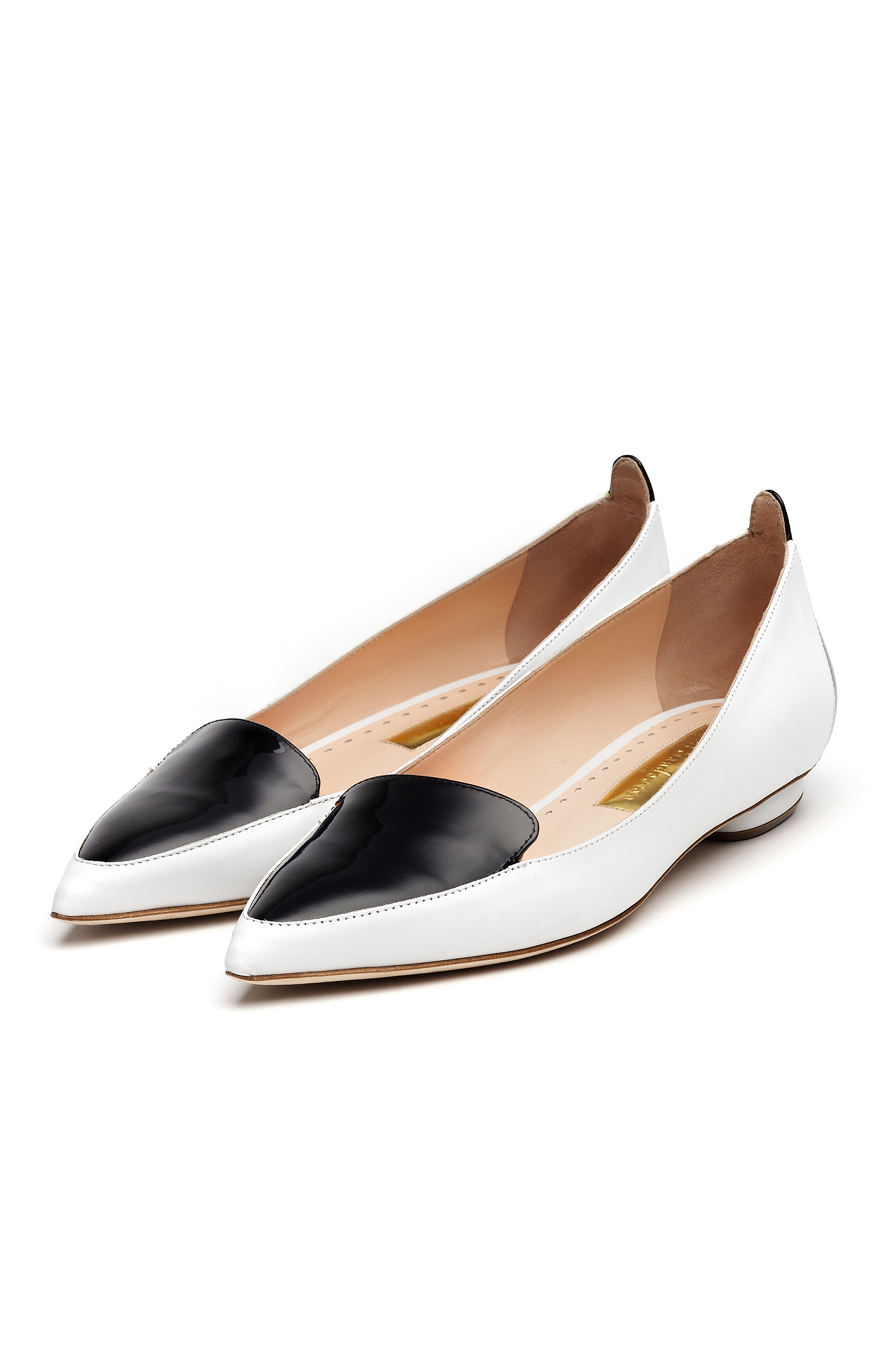 Rupert Sanderson<br>Ohio White calf - black patent PAIR