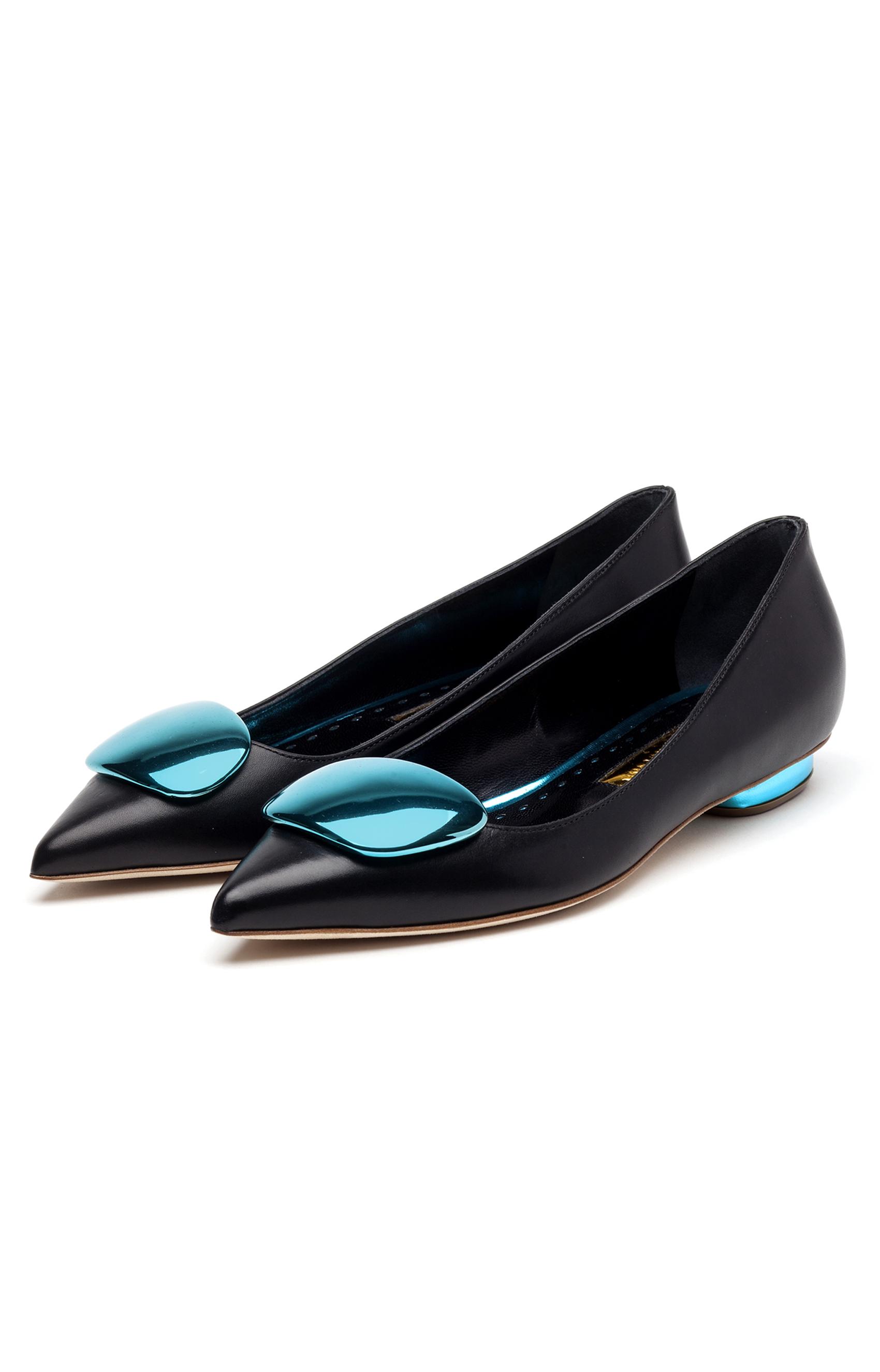 Rupert Sanderson<br>Twinkle Black calf turquoise PIR
