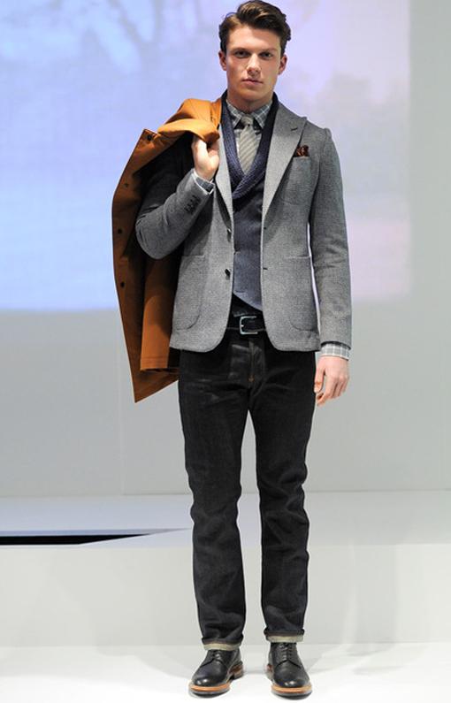 Hardy Amies <br> Menswear Fall 2014 <br>Look 05