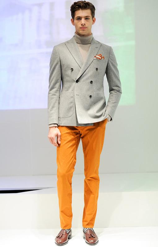 Hardy Amies <br> Menswear Fall 2014 <br>Look 07