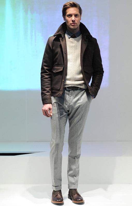 Hardy Amies <br> Menswear Fall 2014 <br>Look 11
